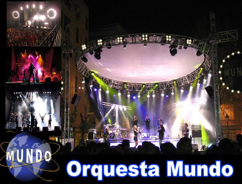 espectaculo musica con la orquesta mundo para fiestas patronales y eventos